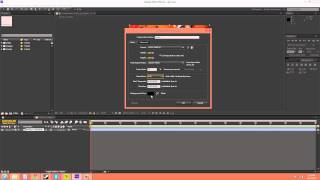 After Effects CS6 Tutorial - 5 - Creating a New Composition