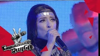 Arevik Armenakyan sings 'Հայ ֆիդայիններ/Դե զարկեք' – Knockout – The Voice of Armenia – Season 4