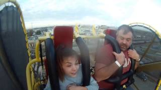 Dad scared $h!tless On ride