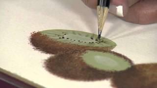 Aprenda a fazer um Kiwi em pintura realista
