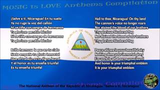 Nicaragua National Anthem with music, vocal and lyrics Spanish w/English Translation
