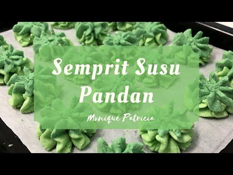 Resep Semprit Susu Pandan | Kreasi Kue kering Lebaran - Monique Patricia