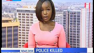 Two police officers shot dead by armed criminals in Nairobi