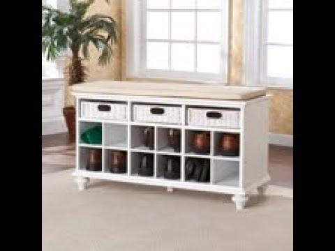 Video for Chelmsford White Entryway Bench
