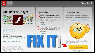 How To Fix Adobe Flash Player Problems [SOLVED] Windows 7/8/10