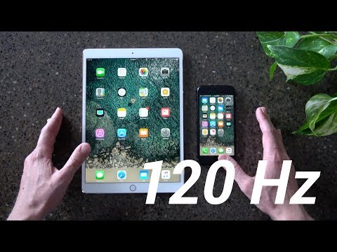 iPad Pro 2 120Hz vs iPhone 7 60Hz: le differenze mostrare in video