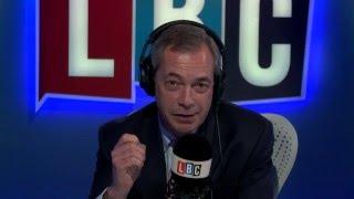 Nigel Farage Hosts LBC Show