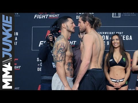 UFC Fight Night 123 official weigh-ins and face-offs