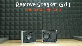 How to remove JBL GO & GO-2 speaker grill [very easy way]