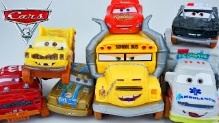 CARS 3 MOVIE CRAZY 8 CRASHERS DEMOLITION DERBY RACE MISS FRITTER CRUZ JIMBO TACO DRIFT RACERS