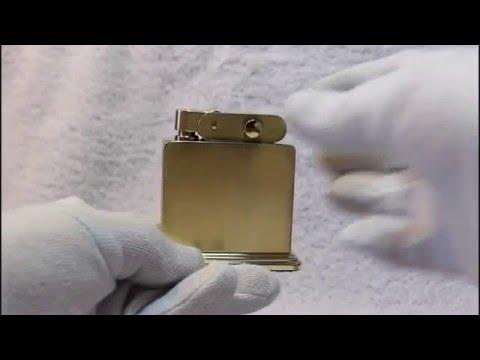 Tischfeuerzeug Solid Brass ca 1950
