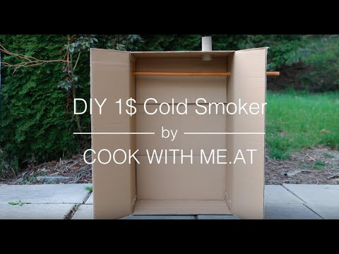 Make A Quick And Cheap Meat Smoker With A Cardboard Box