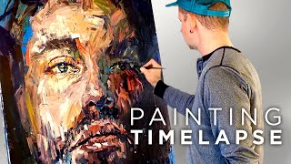 Expressive Oil Painting Process | Male Portrait Time Lapse