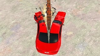 WALL VERSUS CAR! (BeamNG Drive)