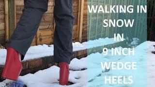 SNOW JOKE!!! 9 inch wedges IN SNOW!!!!!!!