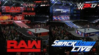 WWE 2K17 Creations: ACCURATE RAW & SmackDown Live Arenas! (PS4)