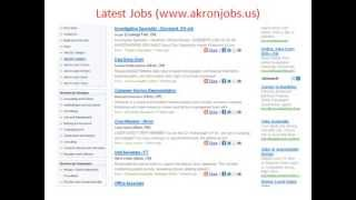 Akron Jobs | Jobs in Akron | City of Akron Jobs