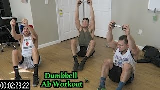 Intense 5 Minute Dumbbell Ab Workout by Anabolic Aliens
