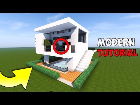 Minecraft Tutorial Beautiful Modern House With Pool Quartz