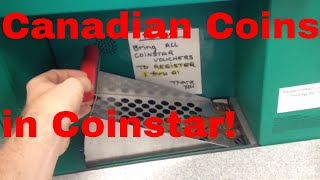 Cashing in Canadian Coins at Coinstar