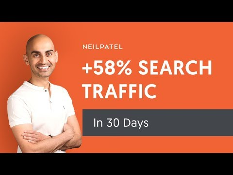 How to Increase Your Search Traffic by 58% in 30 Days