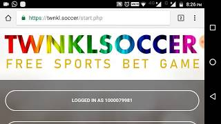 How to play the twnkl soccer sports game and earn free twinkle coin | pernum rainbow currency