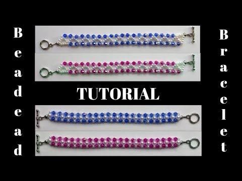 Beaded bracelets. Beading tutorials. Simple beading patterns
