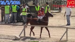 شوط الخيول العربية المحلية رونق المسكين جليلة ميدان الشهيد ياسرعرفات للفروسية اريحا 26/2/2016