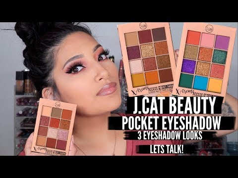 J.CAT BEAUTY POCKET EYESHADOW PALETTES REVIEW + 3 EYESHADOW LOOKS! - ALEXISJAYDA