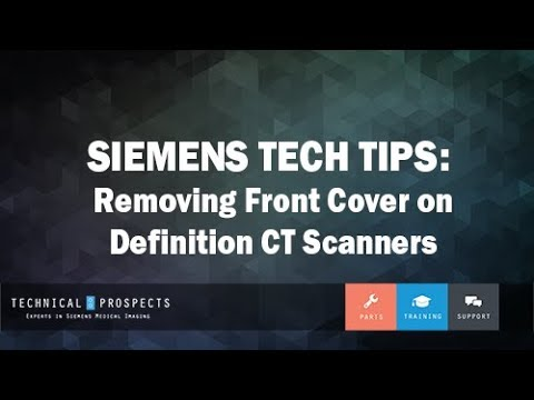Removing Front Cover on Definition CT Scanners