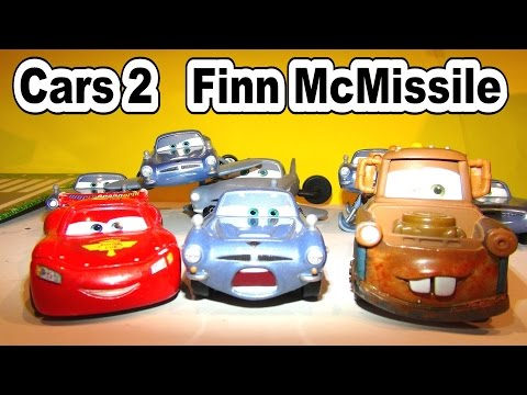 Disney Pixar Cars FINN MCMISSILE From The Disney Cars Character Encyclopedia With Mater And McQueen