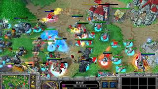 【铁头牛牛杯6V6】魔兽争霸大帝解说 高潮组合 Vs WAR3名人堂 2