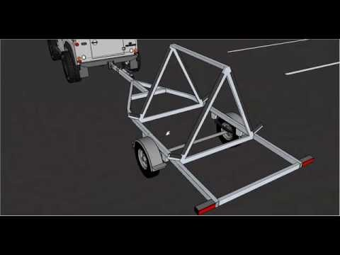 Two boat trailer with Google SketchUp