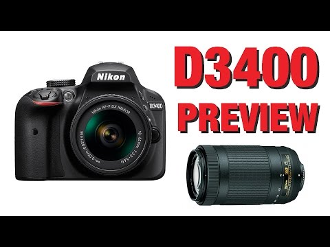Nikon D3400 announced (& 70-300mm AFP lenses)