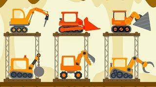 Truck Construction The Excavator - Dinosaur Digger 3 – The Truck - Digger Cartoons for Children