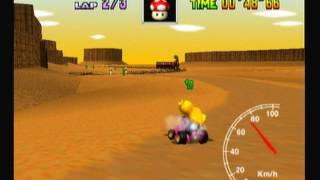 """Mario Kart 64 - Kalimari Desert 3lap 2'06""""65"""