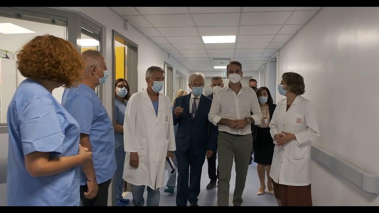 Επίσκεψη του Πρωθυπουργού Κυριάκου Μητσοτάκη στο Πανεπιστημιακό Γενικό Νοσοκομείο Ηρακλείου Κρήτης