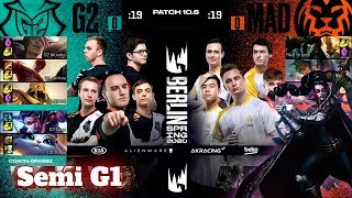 G2 Esports vs Mad Lions - Game 1 | Semi Final PlayOffs S10 LEC Spring 2020 | G2 vs MAD G1