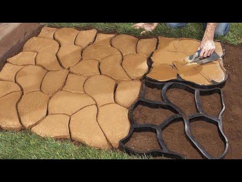 Matrita cu Contur pentru Turnat Pavaj din Beton, Sablon Forma Imitatie Piatra Naturala