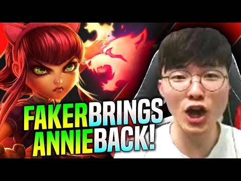 FAKER BRINGS BACK ANNIE MID! - SKT T1 Faker Plays Annie vs Nocturne Mid! | T1 Faker KR SoloQ