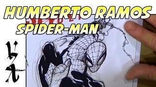 Humberto Ramos Drawing Spider-Man Swinging
