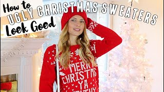 HOW TO LOOK GOOD in UGLY CHRISTMAS SWEATERS 🎄 Ugly Christmas Sweater Party Outfits