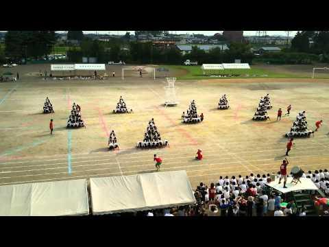 H27.9.12 佐野市立田沼西中学校マスゲーム part3