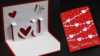 3D I Love You Pop Up Card For Valentines Day / Anniversary | Love Greeting Card Making Ideas