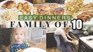 BIG FAMILY MEAL IDEAS! \ Cook With Us For Our Large Family Of 10!