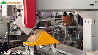 WOODMASTER ✅ MÁY GIA CÔNG TRUNG TÂM CNC 3D 5 Axis 2 Bàn Tải Nặng