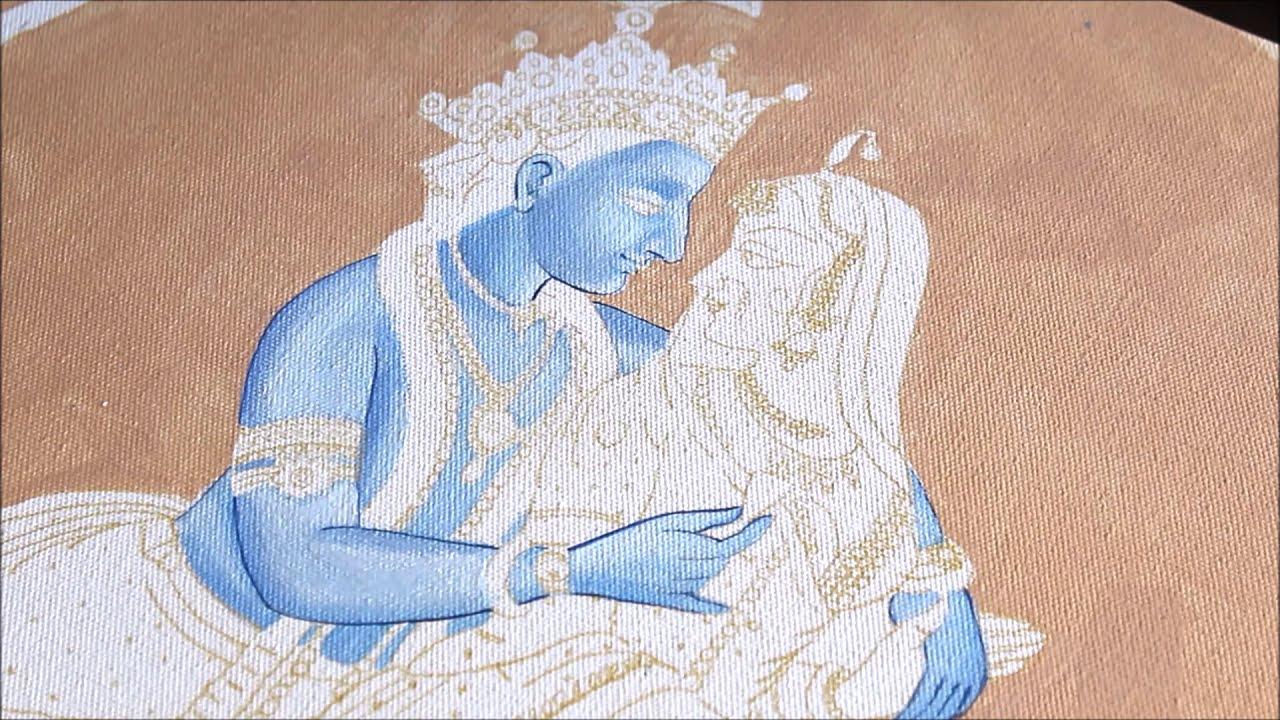 indian miniature painting of radha krishna by creative art
