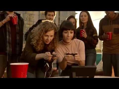 Видео № 1 из игры Nintendo Switch неоновый красный/неоновый синий [Улучшенная батарея]