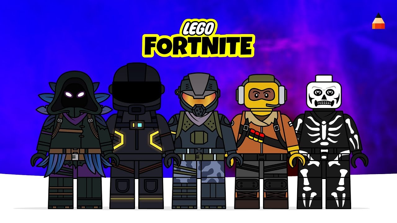 How To Draw Fortnite Lego Minifigures Drawing Fortnite Characters