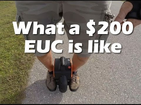 What a $200 electric unicycle is like
